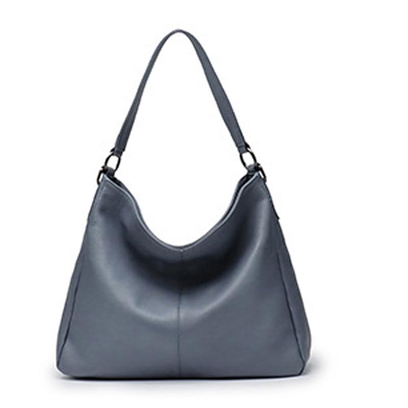 الطبقة الأولى من حقائب جلد البقر حقائب اليد 2021 السيدات الجديدة سعة كبيرة بسيطة حقيبة ساعي حقيبة كتف عادية