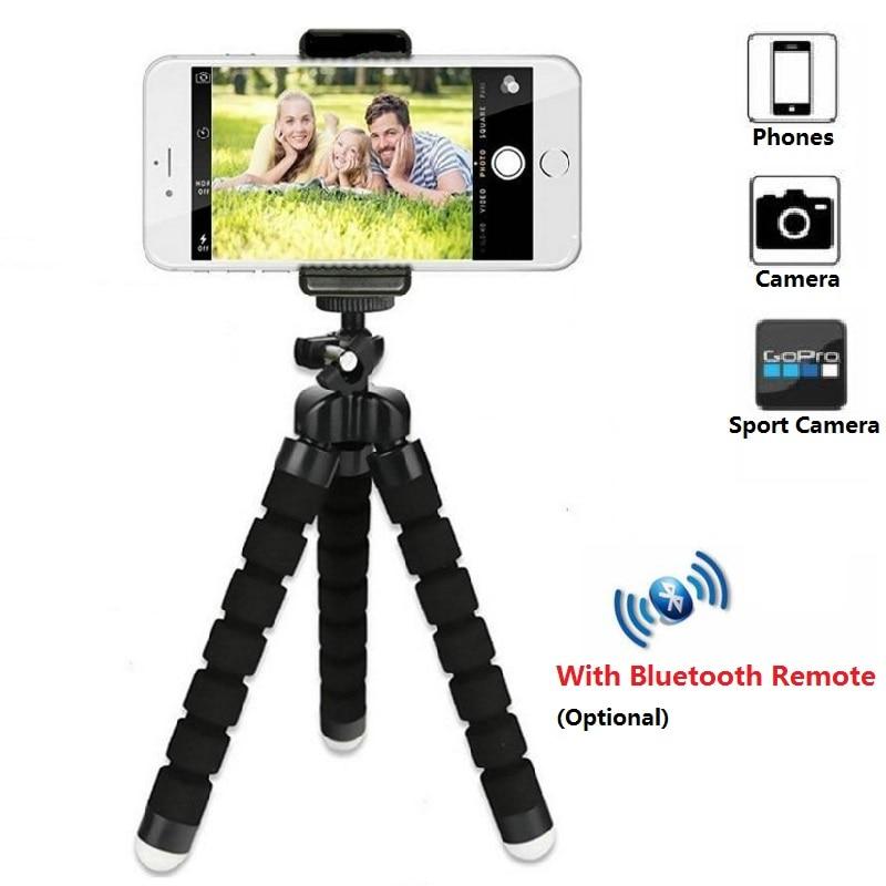 Mini trípode para soporte de teléfono móvil trípode ligero para soporte de cámara Selfie Stick Bluetooth Disparador remoto