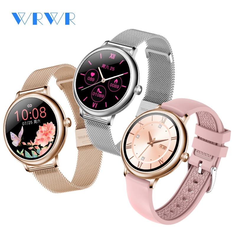 WRWR 2021 NEW Fashion Women's Smart Watch Luxurious Smartwatch For Android Apple, Christmas Gift For