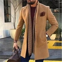 2021 european american cross border hot style mens jacket fashion casual solid color slim coat outerwear top