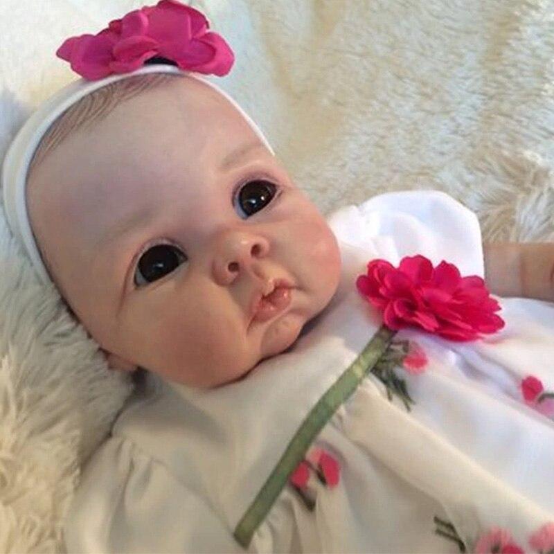 NPK DIY kit renacer Popular muñeca de Saskia bebe reborn kit muy suave tacto real fresco color sin pintar piezas de muñeca sin terminar