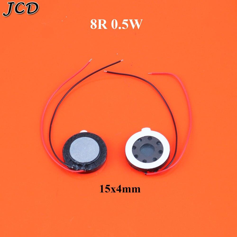 JCD 2PCS Kleine lautsprecher telefon lautsprecher durchmesser 15mm 8R fliesen dicke 4mm GPS Ohm 0,5 W lautsprecher
