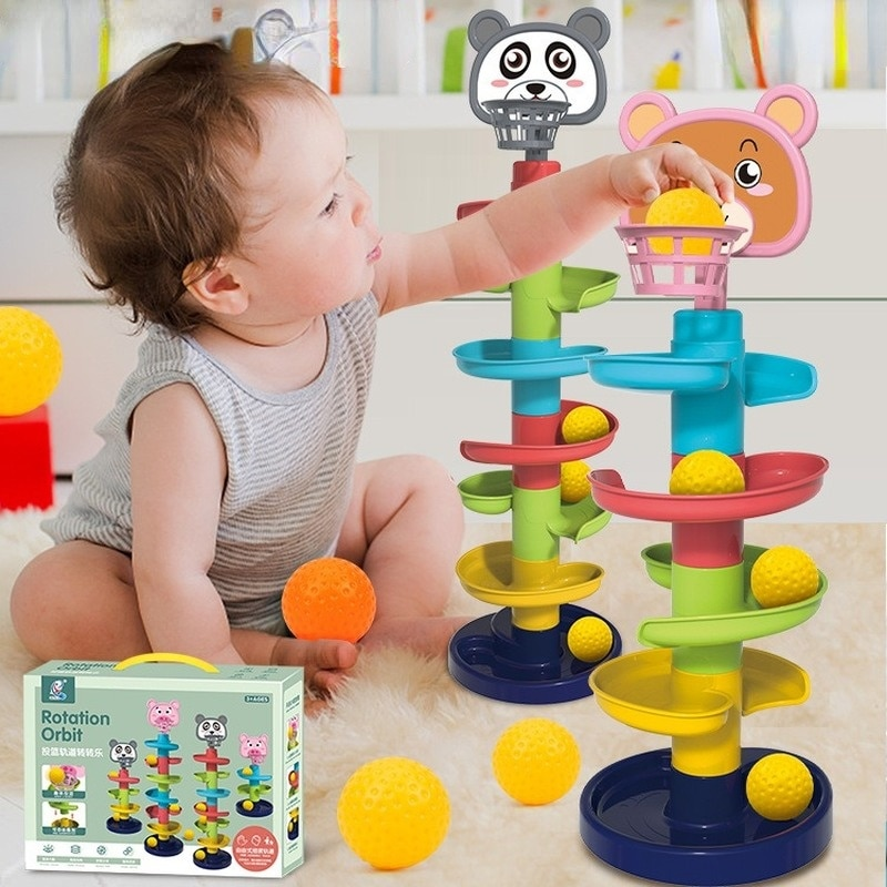 Набор для домашней стрельбы, поворотный музыкальный роликовый шар в сборе, игрушка для мальчиков и девочек, складной музыкальный комплект с...