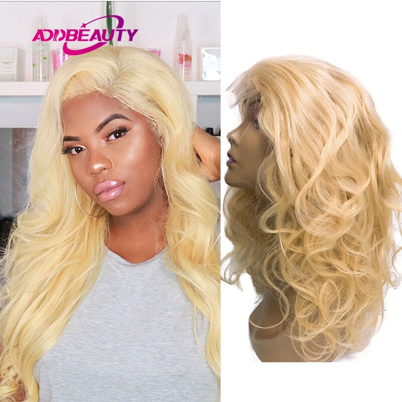 613 Blond Human Hair Wig Body Wave 13x6 Lace Frontal Human Remy Hair Wig for Woman Free Part Pre Plucked Natural Hairline 30inch