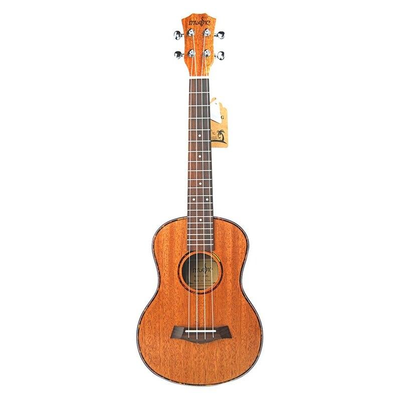 Tenor acústico eléctrico ukelele 26 pulgadas viaje guitarra 4 cuerdas madera caoba instrumento musical