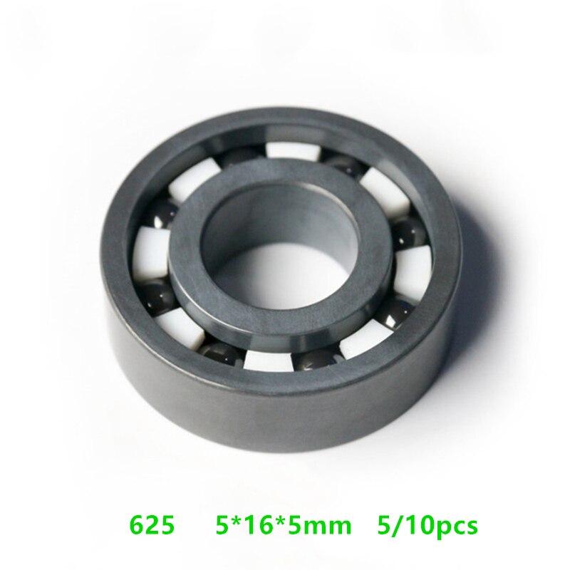 5/10 قطعة 625 كامل Si3N4 السيراميك تحمل 5x16x5mm السيراميك أخدود عميق الكرات 5*16*5 مللي متر