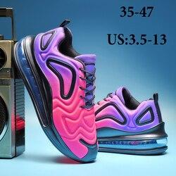 Casal tênis de corrida neon tênis plataforma feminina andando sapatos casuais 2020 moda masculina sapatos esportivos mocassins tênis 47