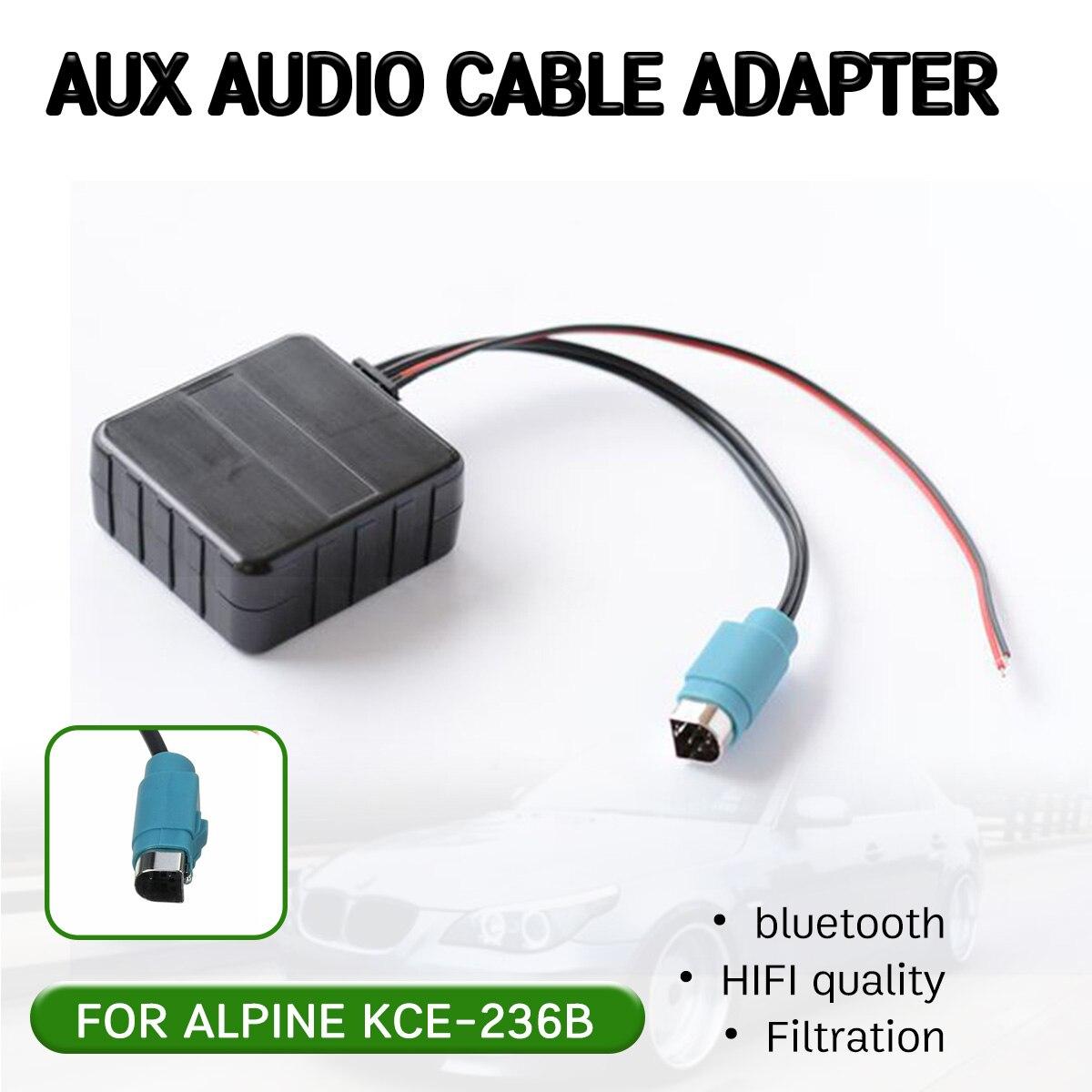 Adaptador de Cable receptor auxiliar bluetooth para Alpine CD Host KCE-236B 9870/9872 interfaz de entrada de música auxiliar de alta calidad