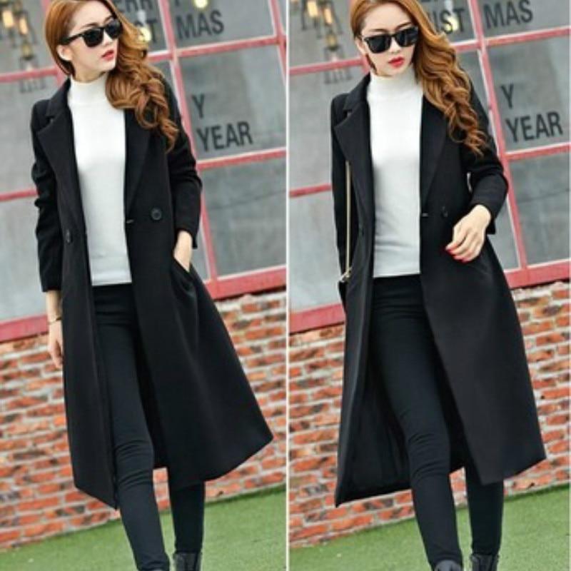 Autumn Winter Double-sided Mid-length Overknee Thickened Large Size Woolen Coat Elegant Temperament Slimming Coat Trendy Women