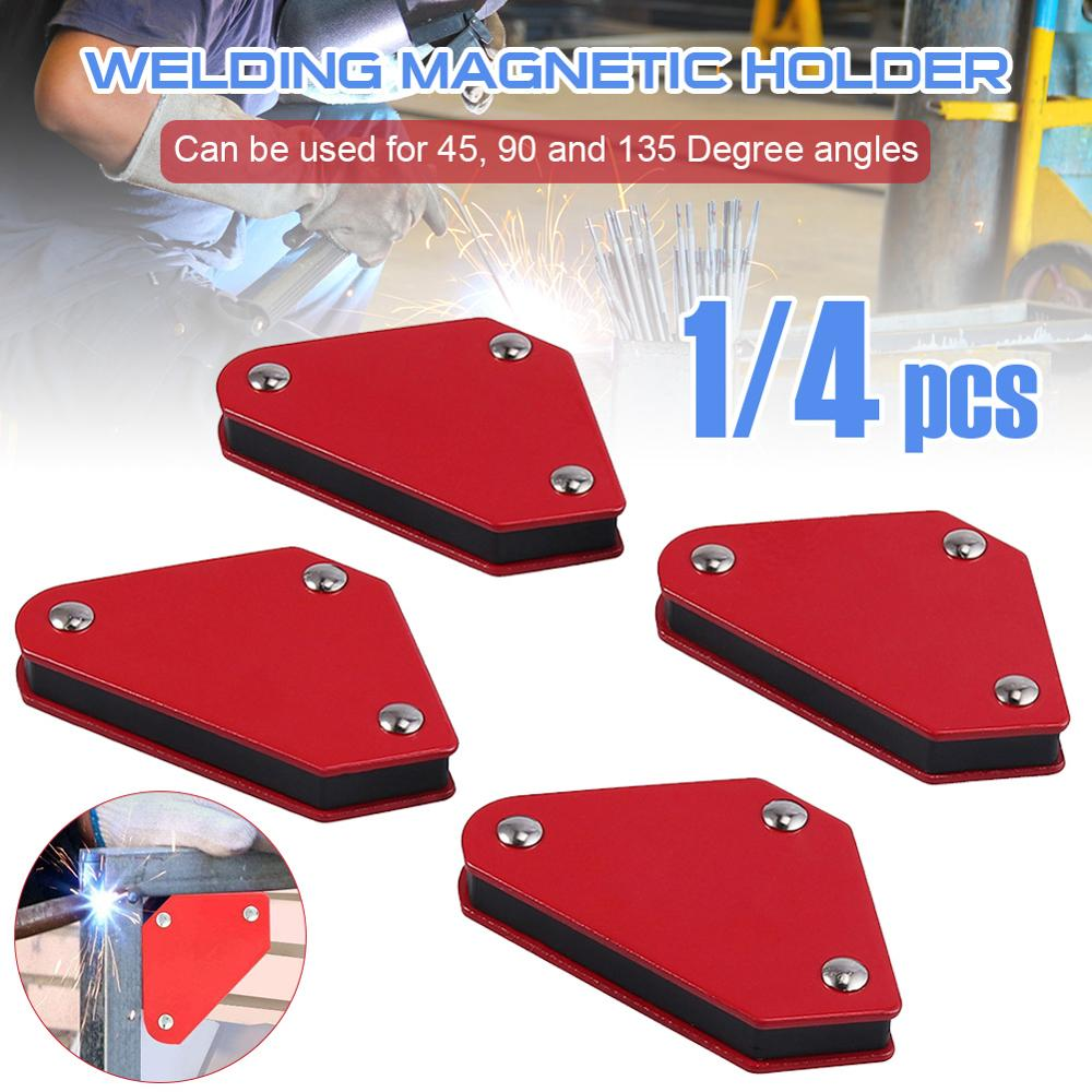 Mini 4-piece set triangular welding locator with magnetic fixed angle tool without switch 9Lb welding fittings