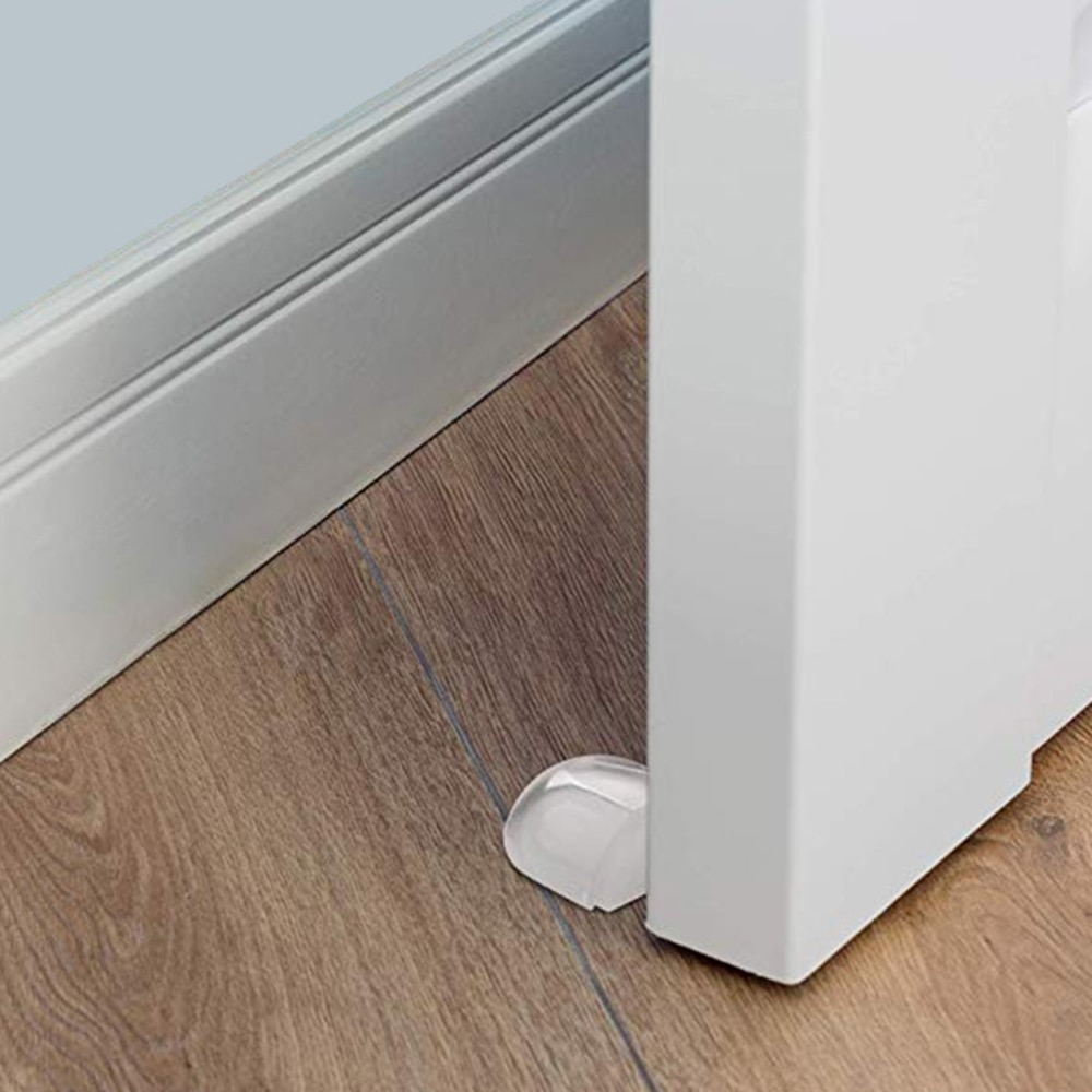 Door Stopper No Need Punch Self Adhesive Anti-Collision Door Holder Catch Door Stop for Home Office Protect Walls and Furniture