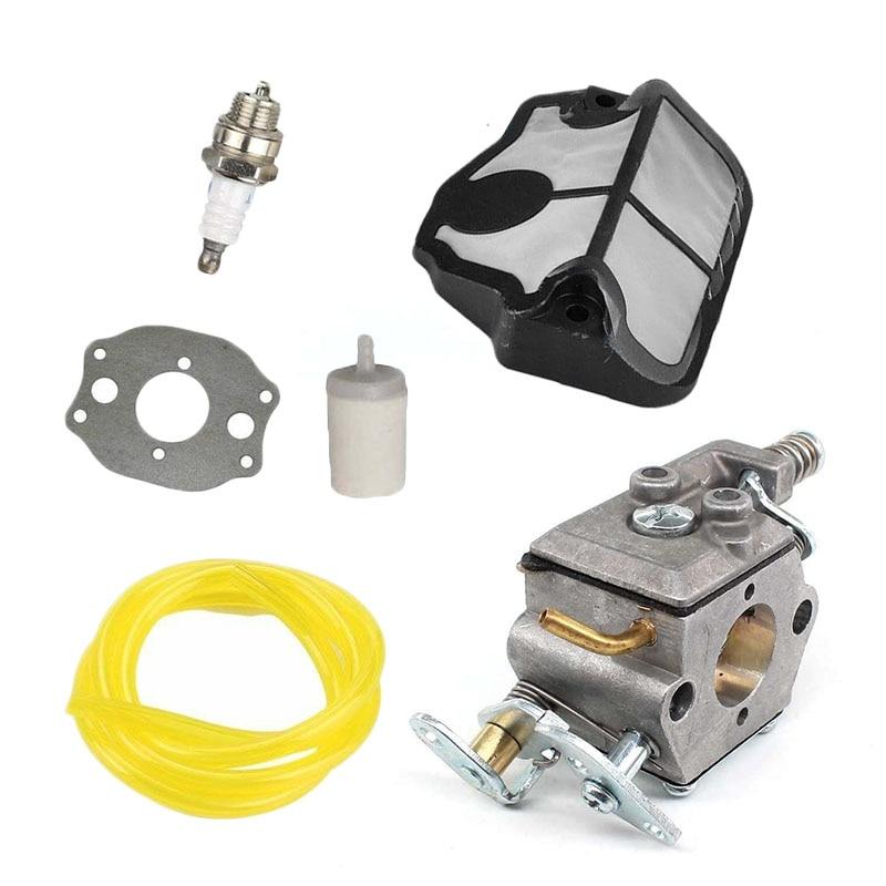 Kit de carburador para Husqvarna 36 41 136 137 141 142 motosierra Zama C1Q-W29E filtro de aire carburador ture up kit