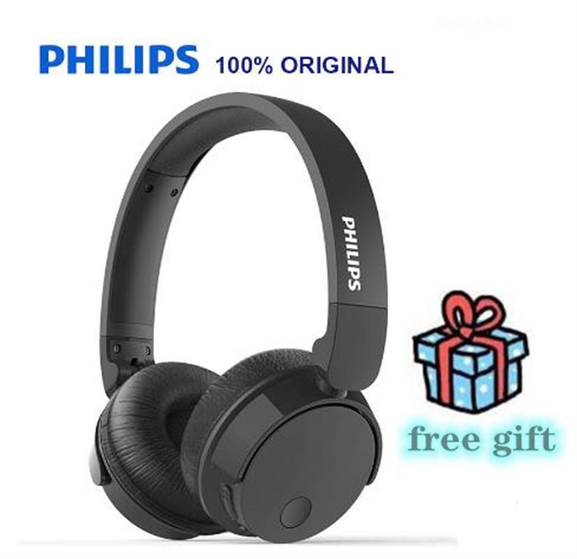 PHILIPS-auriculares inalámbricos TABH305 originales, ANC, Bluetooth 4,2, graves + micrófono HD, soporte plegable, verif