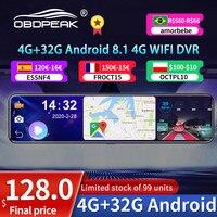 Видеорегистратор OBEPEAK D91, 12 дюймов, 4G, Android 8,1, Full HD 1080P