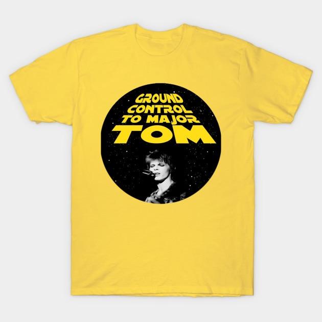 Camiseta masculina david bowie major tom nós te amamos! Camiseta feminina t camisa