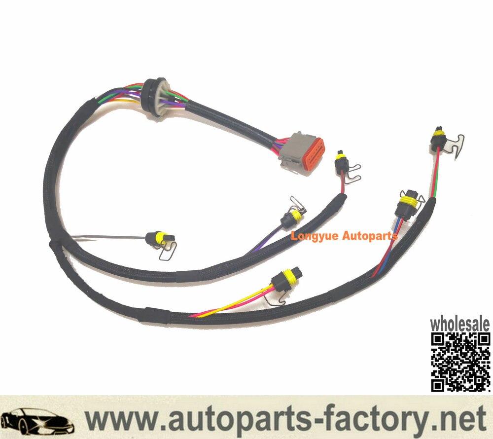 Longyue 222-5917 Injector Wiring Harness Replacement for Caterpillar 324D 325D E325D 329D Excavator C7 Engine