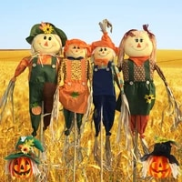 Halloween decorations scarecrow medium cute props Halloween party bar haunted house rural jack-o -lanterns