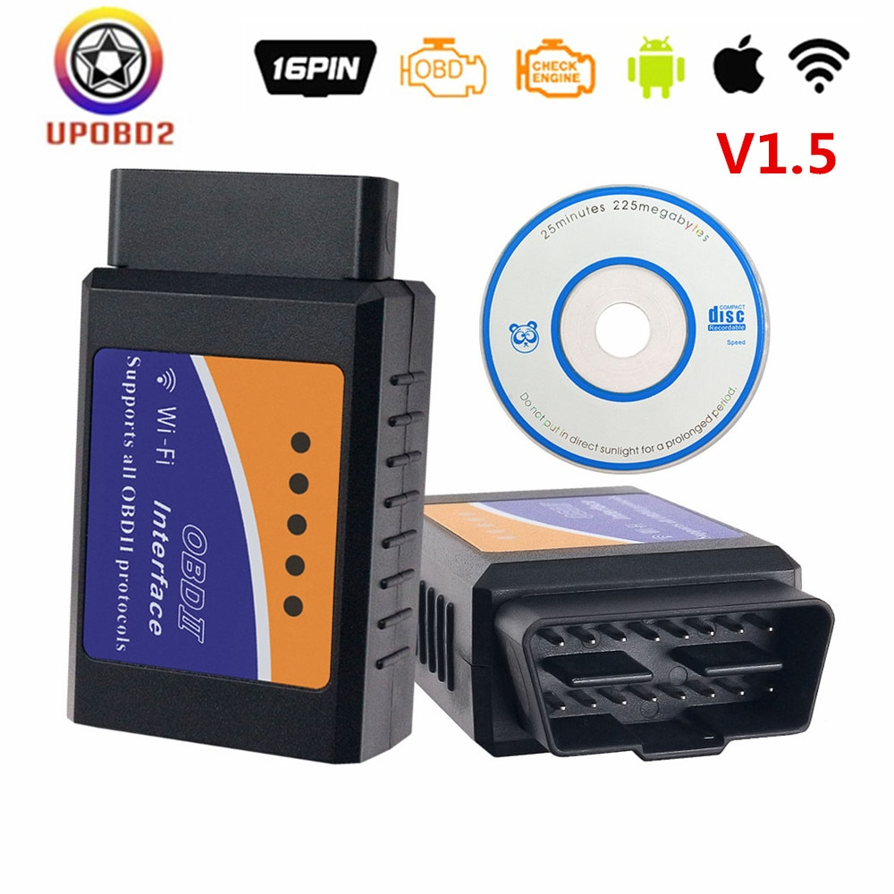 ELM327 Scanner V1.5 WIFI OBD2 OBDII Auto Code Reader elm 327 WiFi 1.5 Car Diagnostic Tool For All OBDII Protocol For iOS Android