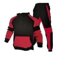 stripe tracksuits mens sportswear set 2021 autumn winter 2 pieces sweatshirtpants suit brand men jogging clothes sports suit