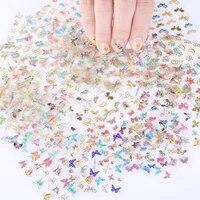 40 9pcs butterflies nail art manicure sticker mixed style sticker set fashion self adhesive manicure nail art decoration sticker