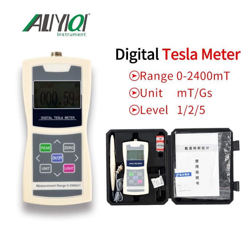 Surface Magnetic Field Permanent Magnetic Material Gauss Meter Handheld Digital Tesla Meter Magnetic Flux Meter Accuracy 1%/2%/5