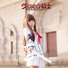 Women Anime Vampire Knight Cosplay Costume Yuki Day Night Class Uniform Girls Cross Black white Jack