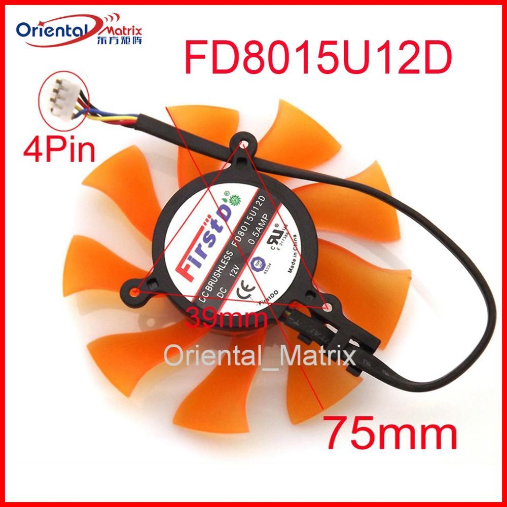 Бесплатная доставка FD8015U12D 12 В 0.5A 75 мм VGA вентилятор для ZOTAC GTX460SE GTX560TI видеокарта вентилятор 4Pin