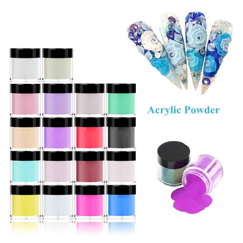 Uñas de Polvo de pigmento acrílico de 12/18/24 colores talla rápida diseño de Gel UV que pega diamantes de imitación decoración de uñas en polvo