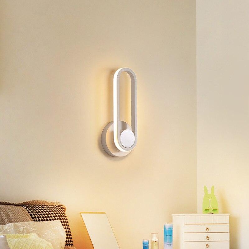 Lámpara led moderna de cristal para baño, lámpara aplique, pared, pared, habitación
