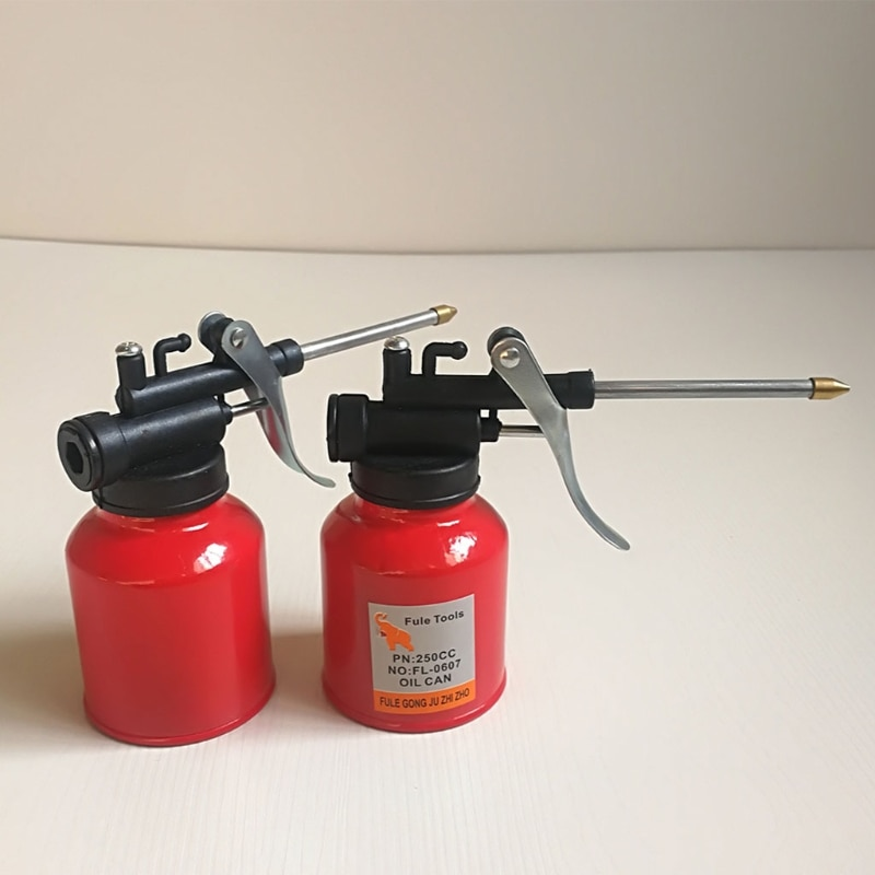 AliExpress - 1Pc High Quality 250ml Oil Can  Spout Thumb Pump Workshop Oiler Oil Can Red L41C