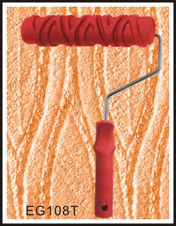 Резиновый ролик с тиснением 7 дюймов текстурный узор для краски домашнего декора