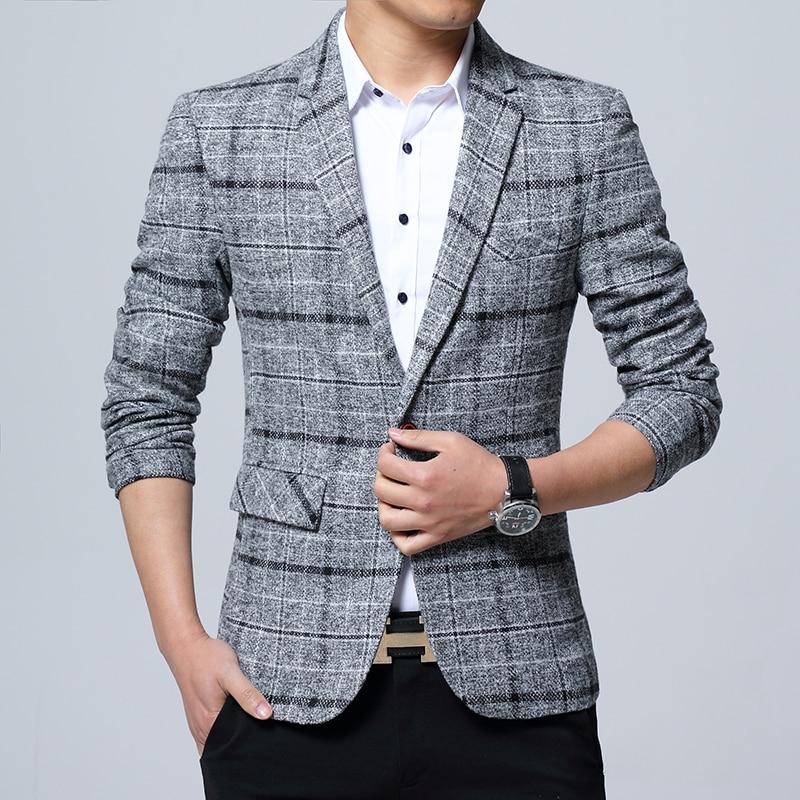 Новинка, мужские блейзеры, приталенные костюмы для мужчин, деловой официальный Блейзер, мужской свадебный костюм, куртки, мужской модный кл...