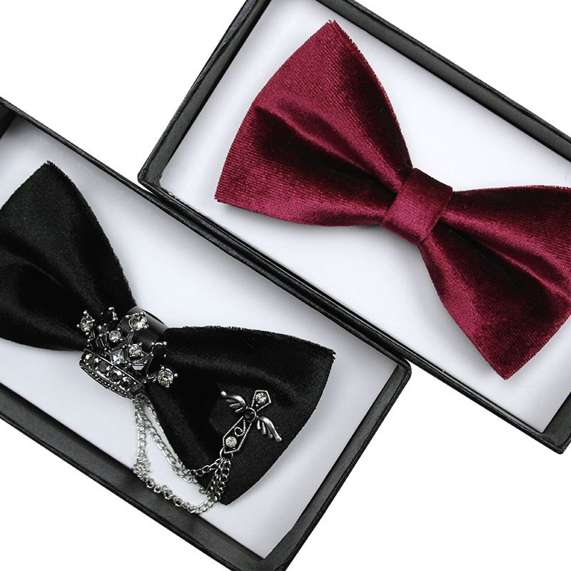 Free Shipping New Male fashion men's Black bow tie wedding wedding dress student small bow tie groom best man host personality