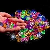 400pcs plastic gems ice grains colorful small stones children jewels acrylic gems jewels treasure crushed ice crystal diamonds