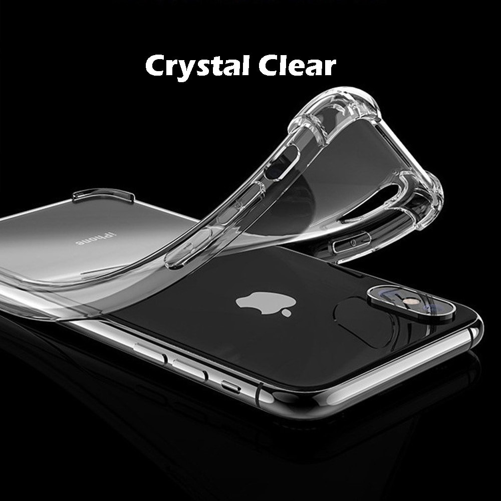 Crystal Clear TPU Soft Back Case For iPhone 8 With Air-Bag Shock-Proof Aniti-Fall 360° Drop Protect