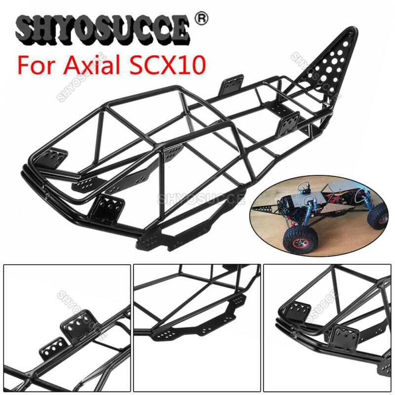 Shyosucce estrutura de metal corpo rolo gaiola chassi para 1/10 axial scx10 90027 rc caminhões rastreador