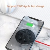 phone charging pad wireless sucker stand dock quick charging mini portable 15w compatibale with iphone samsung mini charging pad
