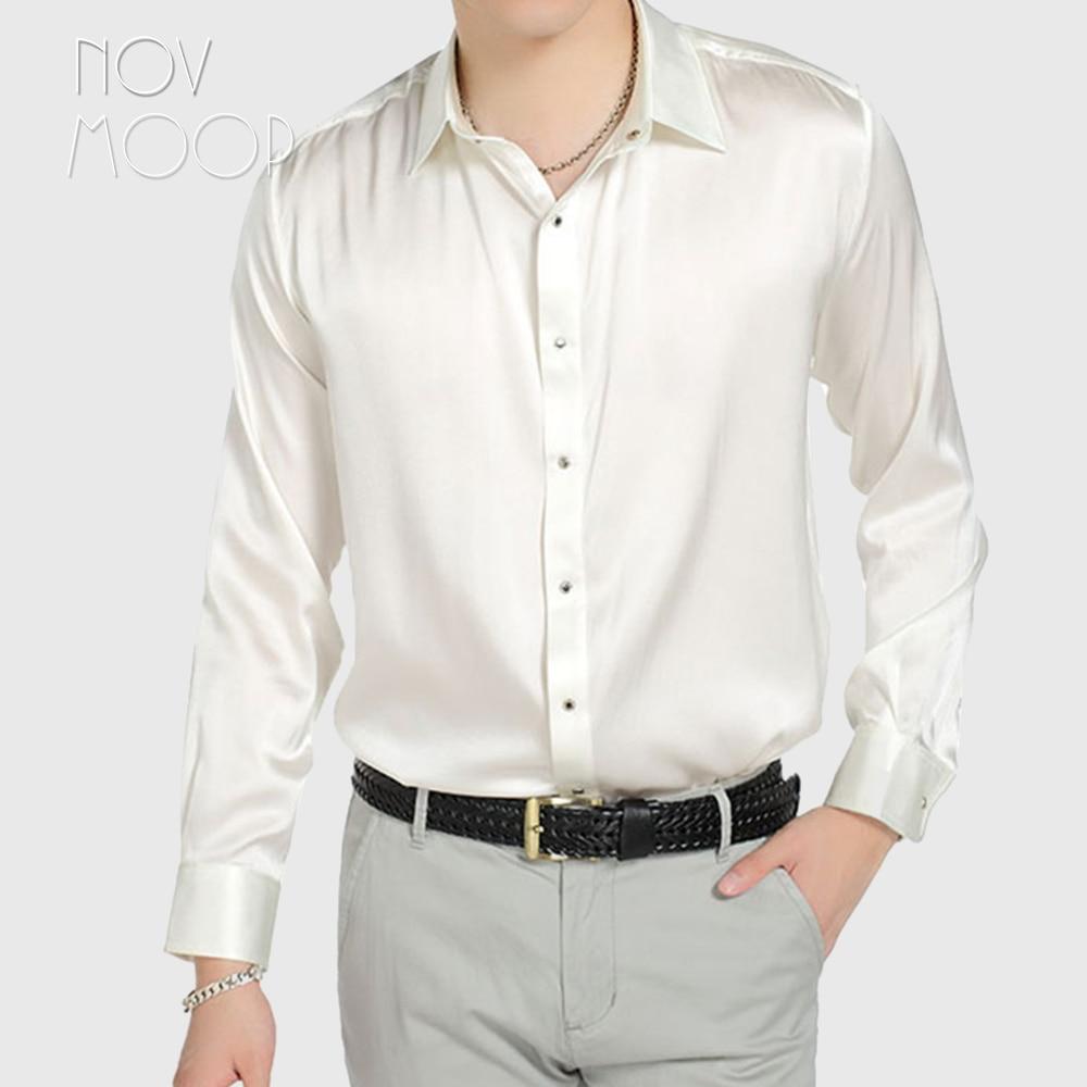 Blue green pink men natural silk shirts long sleeve business shirt cheap chemise homm camiseta masculina vetement homme LT1499