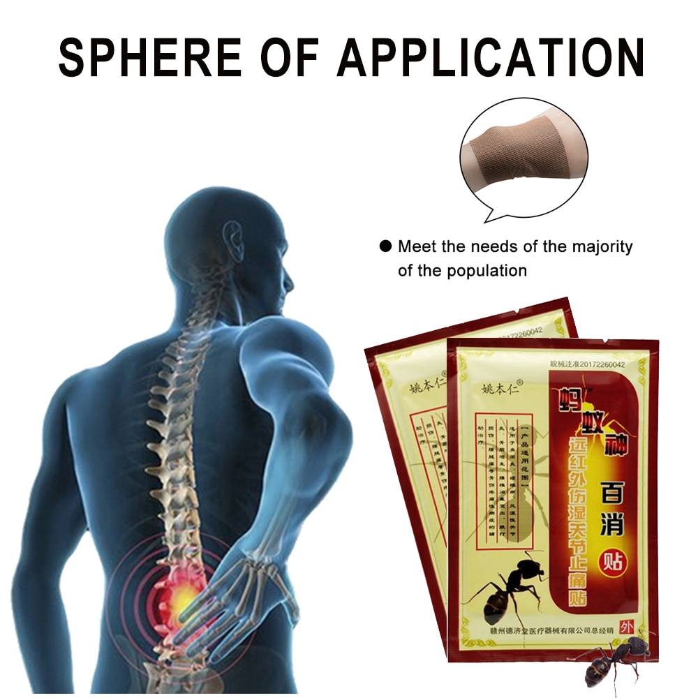 16Pcs Chinese Medical Plaster Herbal Ant Recipe Health Care Joint Back Pain Reliever Artritis Rheumatoid Pain Relief Patch