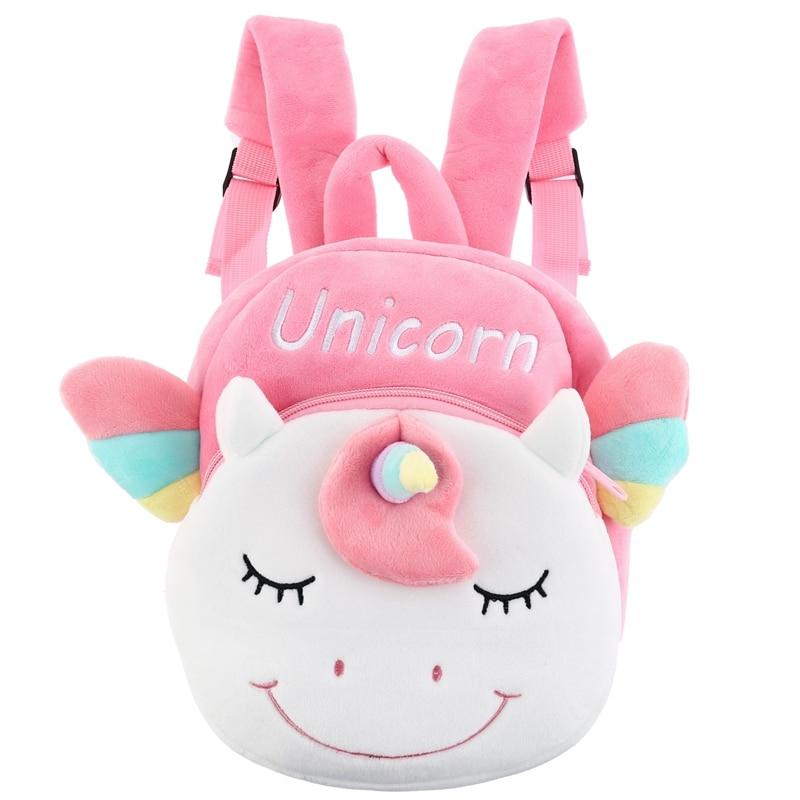 1 ud. Bonita mochila de unicornio, bolso de hombro para niños de colegio de dibujos animados, mochila de doble hombro para jardín de infantes, novedad