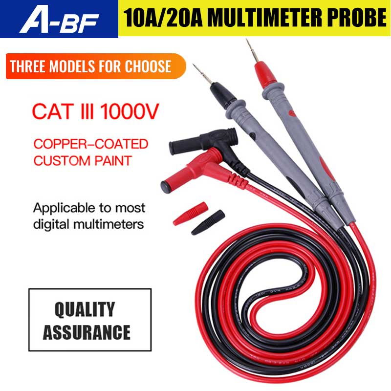 1 paar 1000V 10A/20A Multimeter Sonde für Universal-Digital-Multimeter Test Führt Pin Draht Stift Kabel 80cm