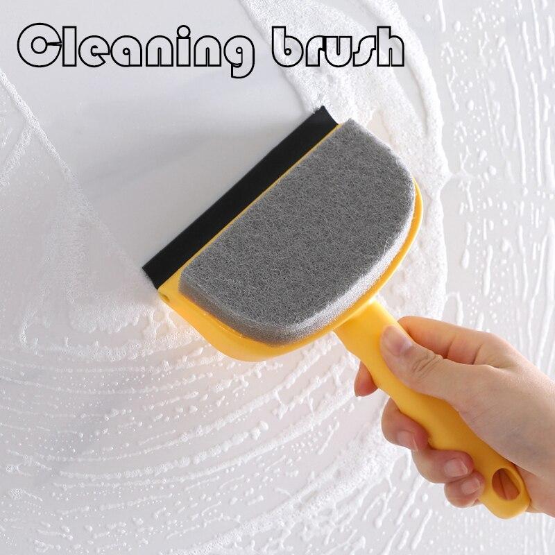 Новая многофункциональная щетка для чистки ванной, двусторонняя пластиковая щетка, стеклянная щетка для ванны, зеркала, чистящая кухонная ...