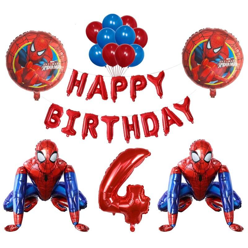 3D Foil super hero man Balloon spiderman Birthday Party Decoration Children's Toy baby shower balloon Air Globos photo props