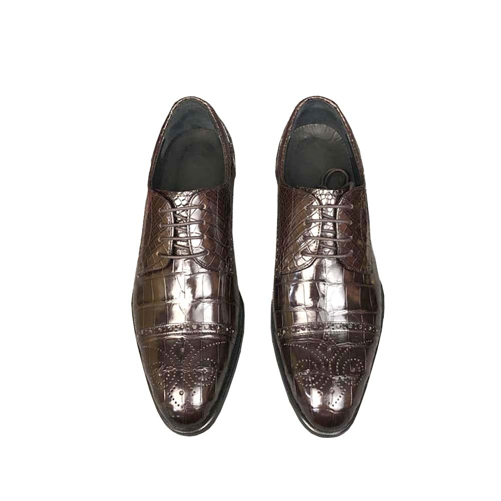 Ousidun الرجال الرسمي الأحذية تمساح الأعمال الترفيه الزفاف الشباب شخصية الدانتيل متابعة المد الرجال اللباس أحذية