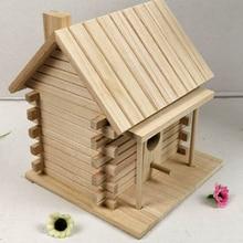 나무 새 집 따뜻한 조류 번식 상자 야외 둥지 오두막 애완 동물 장난감 벽 마운트 야외 Birdhouse 나무 상자 정원 장식