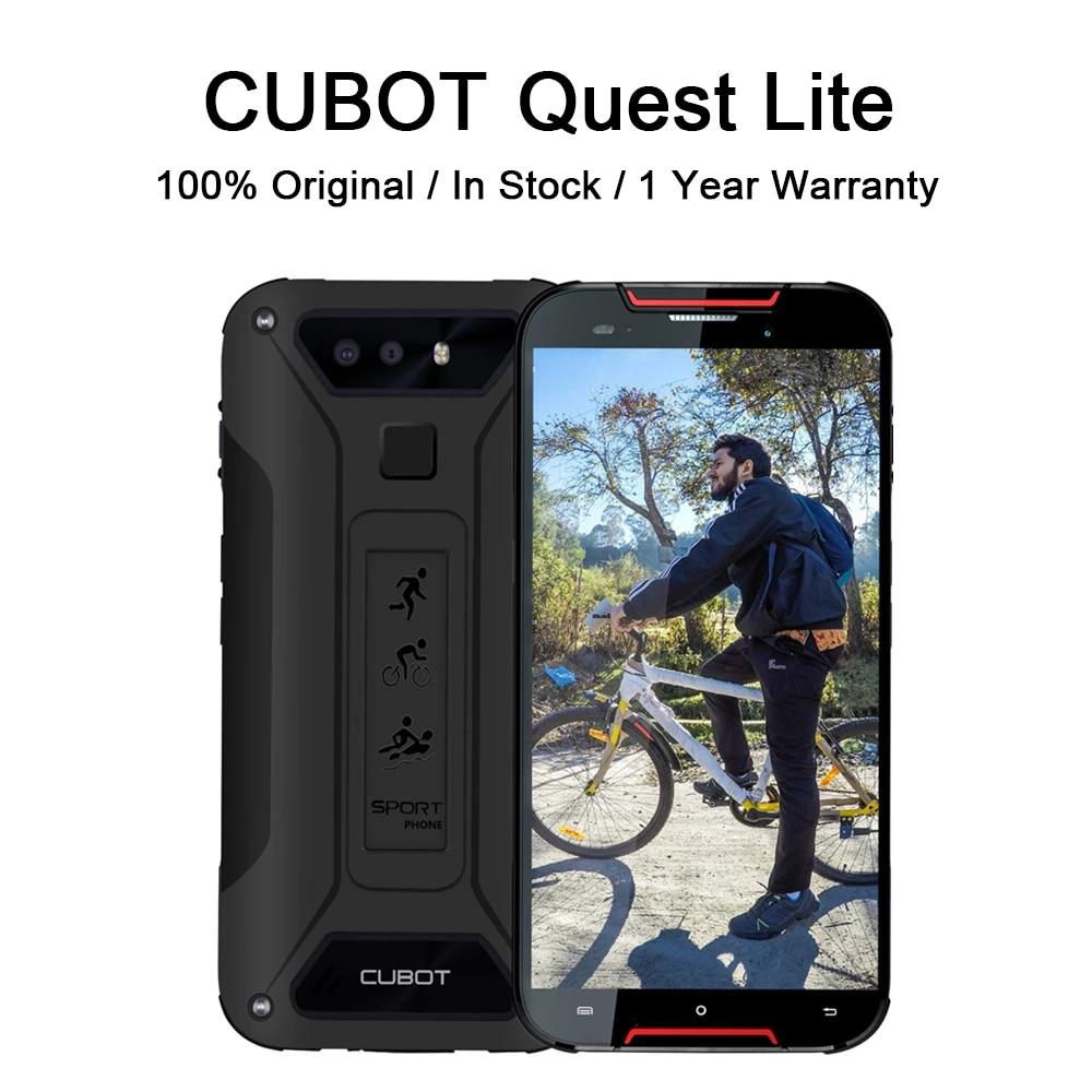 Перейти на Алиэкспресс и купить Cubot Quest Lite ip68 водонепроницаемый смартфон 4G Две SIM-карты 5 дюймов 8,8 мм Тонкий устойчивый к царапинам ударопрочный Прочный телефон