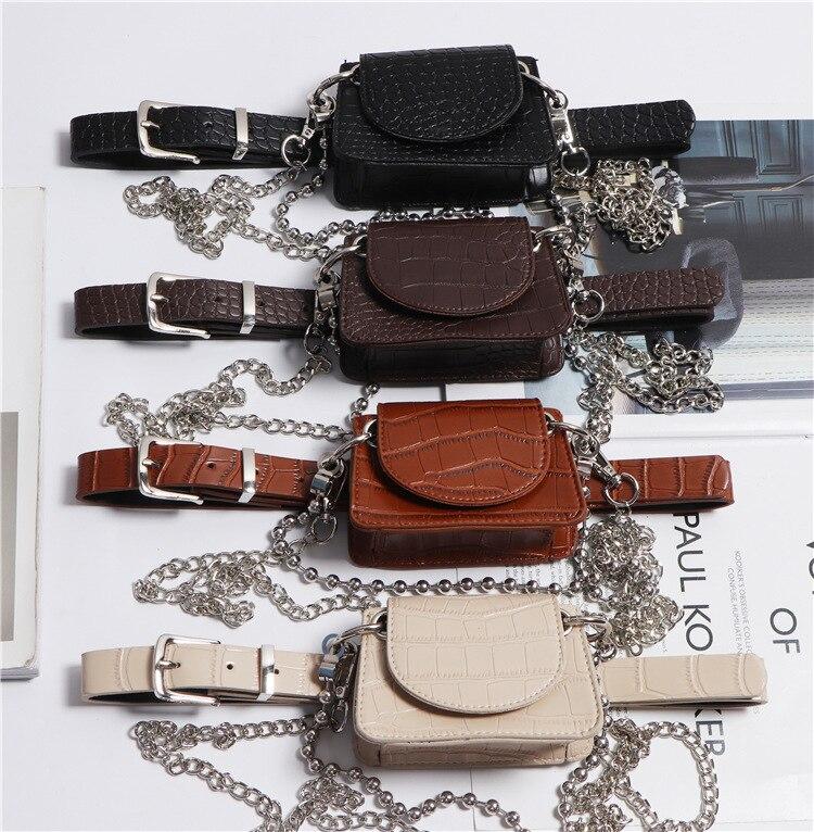 Bolsos con patrón de cocodrilo bolso de cadena de moda de mujer bolso de cuero de PU cruzado bandolera bolsos casuales para mujer