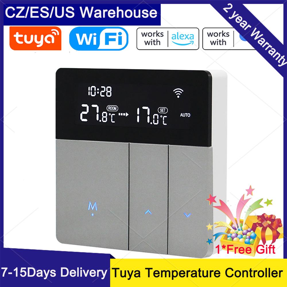 Tuya واي فاي ذكي متحكم في درجة الحرارة ترموستات الخلفية سطوع التلقائي تعديل الهاتف المحمول APP التحكم عن بعد