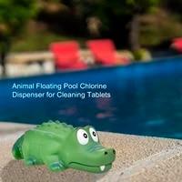 swimming pool chlorine floater swimming pool vinyl floater cute crocodile animal pool diffuser chlorine dispenser