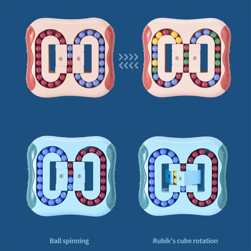 Rotating Magic Bean Cube Stress Relief Toy for Adults Kids 2021 Hot Sale Fingertip Fidget Toys Intelligence Game enlarge